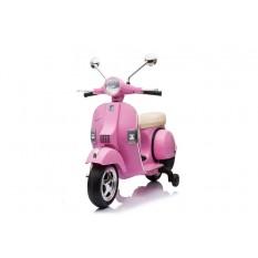 "Kinderfahrzeug - Elektro Kindermotorrad ""Vespa"" - Lizenziert - 12V - 2 Motoren - MP3 - Ledersitz"