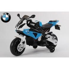 "Kinderfahrzeug - Elektro Kindermotorrad - von BMW lizenziert ""S1000RR"" 12V7Ah- blau"