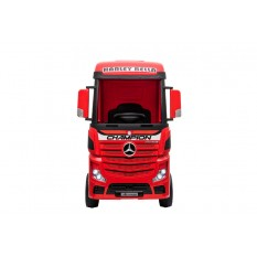 "Kinderfahrzeug - Elektro Auto ""Mercedes Actros"" - lizenziert - 2x 12V7AH, 4 Motoren- 2,4Ghz Fernsteuerung, MP3, Ledersitz+EVA"