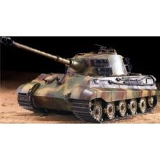 """RC Panzer """"Deutscher Königstiger - Henschelturm"""" 1:16 Heng Long mit Rauch und Sound , Metallgetriebe + 2,4Ghz -Upgraded Version"""