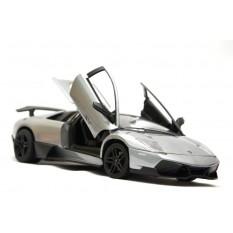 "RC Auto Lamborghini Murcielago ""LP-670-4 SV"" mit Lizenz -Metall- 1:24 -silber"