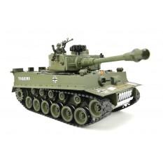 """RC Panzer """"German Tiger I"""" grün 1:20 mit Schuss und Sound-B2"""