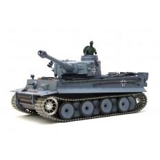 """RC Panzer """"German Tiger I"""" Heng Long 1:16 Grau, Rauch&Sound,Metallgetriebe (Stahl) und Metallketten -2,4Ghz -V 6.0 - PRO"""