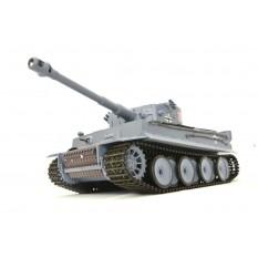 "RC Panzer ""German Tiger I"" Heng Long 1:16 Grau, Rauch&Sound+Stahlgetriebe und 2,4Ghz -V 6.0"