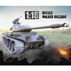 "RC Panzer M41 A3 ""WALKER BULLDOG"" Heng Long 1:16 mit R&S, Metallgetriebe und Metallketten -2,4Ghz -PRO"