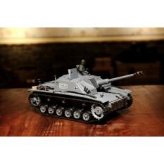 """RC Panzer """"Sturmgeschütz III"""" - Stug 3 Heng Long 1:16 Grau, Rauch&Sound, Metallgetriebe und 2,4Ghz - PRO"""