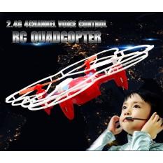 "4 Kanal Sprachgesteuerter Quadrocopter 6 Achsen Gyro ""FX-4V"" 2,4Ghz +Headless"