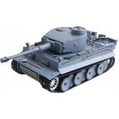 "RC Panzer ""German Tiger I"" Heng Long 1:16 Grau, Rauch&Sound+Metallgetriebe und 2,4Ghz"