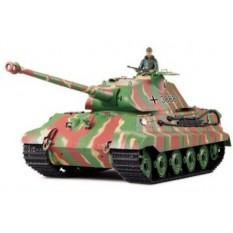 """RC Panzer """"Deutscher Königstiger"""" 1:16 Heng Long mit Rauch und Sound , Metallgetriebe und 2,4Ghz Fernsteuerung -Upgraded Version"""