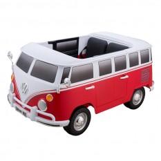 """Kinderfahrzeug - Elektro Auto """"VW Bulli"""" - lizenziert - 12V7AH Akku und 2 Motoren- 2,4Ghz + MP3 + Leder + 2 Sitzer"""