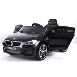 "Kinderfahrzeug - Elektro Auto ""BMW 6GT"" - lizenziert - 12V, 2 Motoren+ 2,4Ghz+ Ledersitz+EVA -Schwarz"