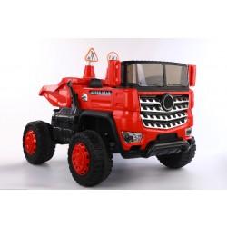 Kinderauto - Elektro Muldenkipper 2 Sitzer- 12V10AH Akku, 4 Motoren+ 2,4Ghz+Ledersitz+EVA-Rot