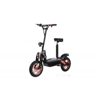 E-Scooter bis zu 40 km/h schnell - mit 25km Reichweite, 48V   1500W   12AH Akku, mit Sitz, Bremsen und Lichter -C002B