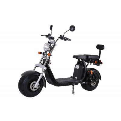Coco Bike Fat E-Scooter mit Straßenzulassung bis zu 40 km/h schnell - ca. 35km Reichweite, 60V   12AH Akku -Matt