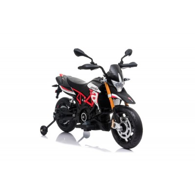 "Elektro Kindermotorrad ""Aprilia-900-Dorsoduro"" - Lizenziert - 12V - 2 Motoren - MP3 + Leder + EVA"