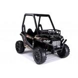 """Kinderfahrzeug - Elektro Auto """"Buggy 360"""" - 2x 12V7AH Akku,2 Motoren, Ledersitz, Doppelsitz,- 2,4Ghz +MP3 -Schwarz"""