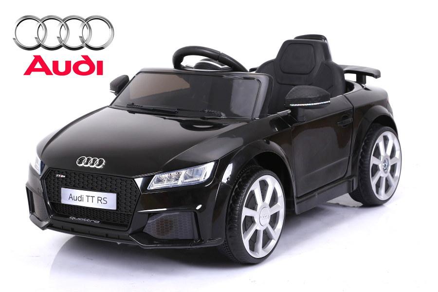 """44ET4782-Schwarz Kinderfahrzeug - Elektro Auto """"Audi TTRS"""" - lizenziert - 12V Ak"""