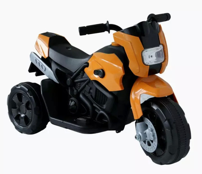 44ET3640-Orange Kinderfahrzeug- Elektro Kindermotorrad - Dreirad - Orange