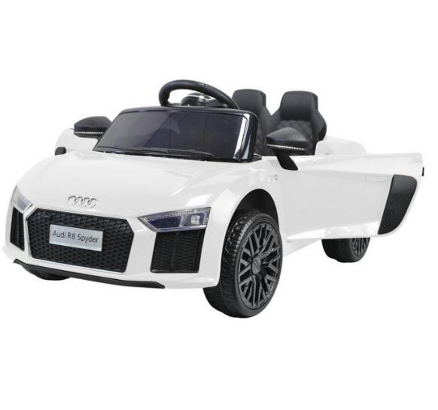 "44ET4814-Weiss Kinderfahrzeug - Elektro Auto ""Audi R8B"" - lizenziert - 12V7Ah Ak"