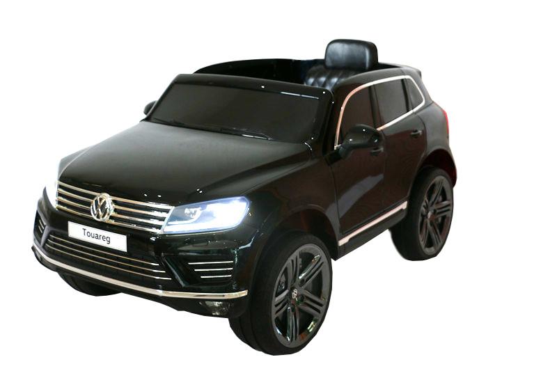 "44ET4802-Schwarz Kinderfahrzeug - Elektro Auto ""VW Touareg 2017"" - lizenziert -"